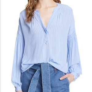 NWT $298 Joie Azabeth Top in Sunset Blue Small